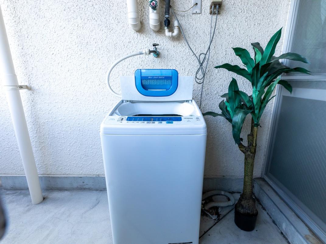 ツインルーム 洗濯機も完備しております。
