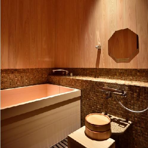 部屋檜風呂一例
