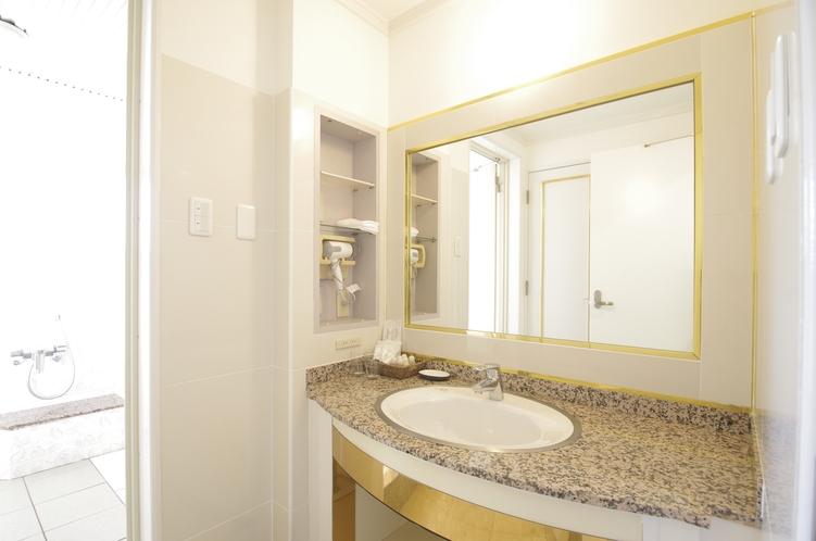 デラックスキングルーム 洗面室
