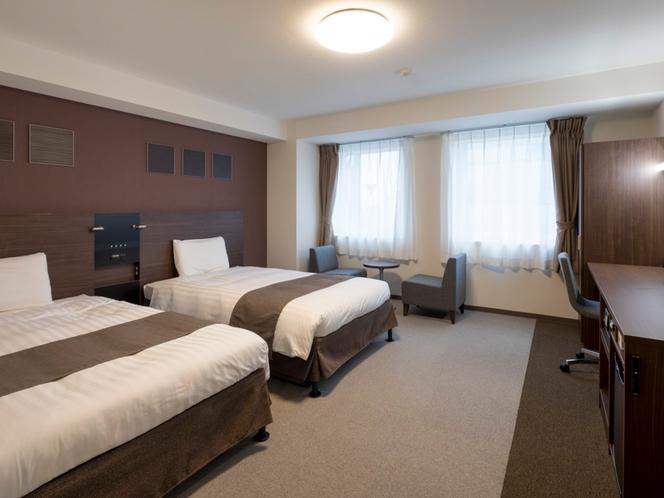 2ベッド◆ツインスタンダード2◆広さ29平米◆ベッド幅123センチ