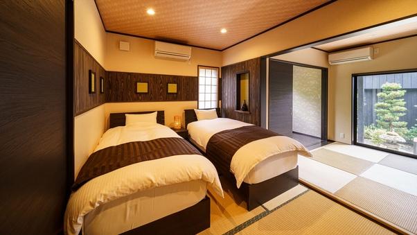 半露天風呂付 離れ和洋室A(10畳和室+ベッドルーム)