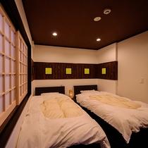 【半露天風呂付き離れ】 寝室(十五夜)