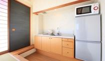 【お部屋】全室キッチン・電子レンジ・冷蔵庫完備