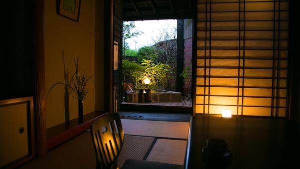 【51平米】露天風呂付和洋室 ツインルーム セミダブルベット