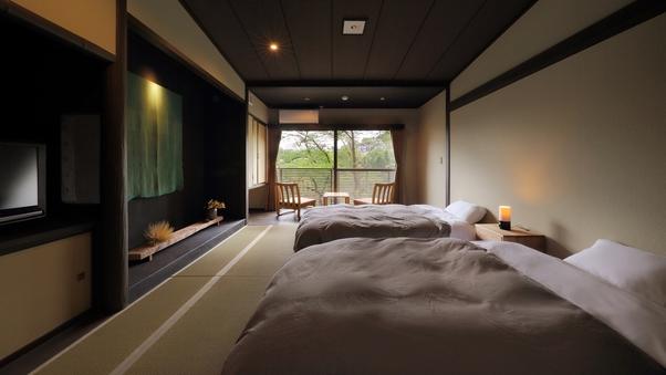 【和室6畳 + 広縁】 桜側のモダン和室 ( 禁煙 )
