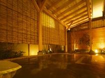 明月【石の露天風呂】