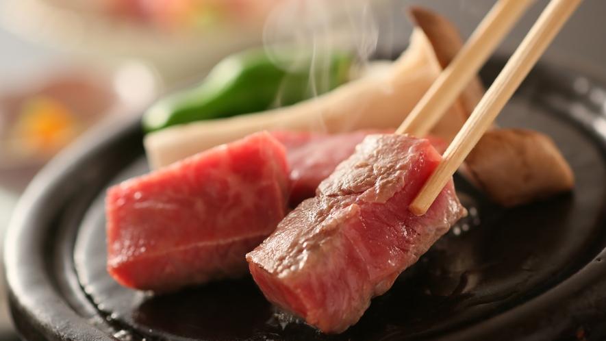 【玉屋名物】信州プレミアム牛の温石焼き