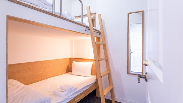 2段ベッドルーム【シングル】【全室完全個室・鍵付】