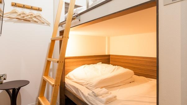 2段ベッドルーム【ダブルベッド】【全室完全個室・鍵付】