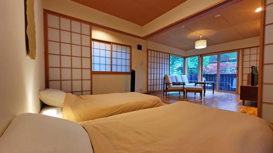 【客室-2F】眠りから暮らしを考える日本ベットでおやすみください