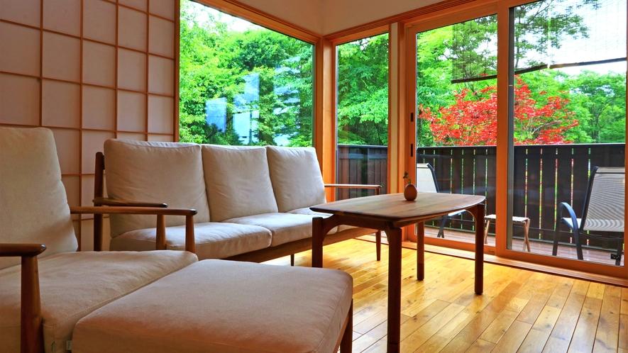 【客室-2F】居心地が良くて、この場所で過ごす時間が多くなってしまいます