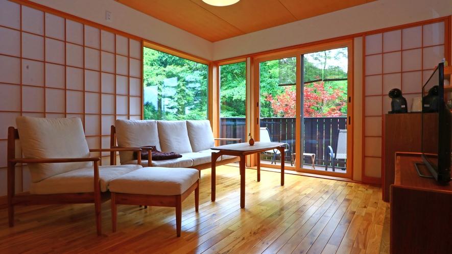 【客室-2F】季節の移ろいに癒やされる休日