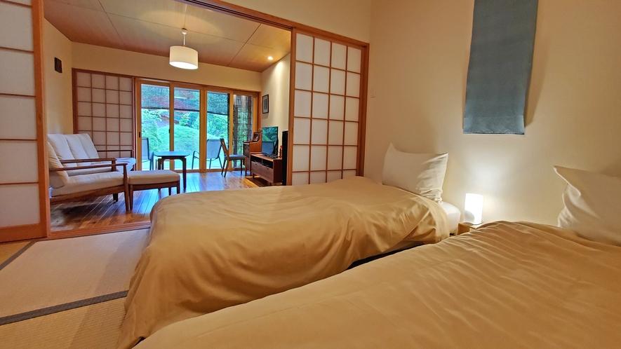 【客室-1F】上質な睡眠を追求した日本ベットのマットレスでおやすみください