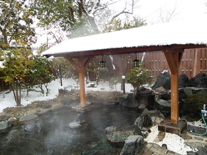 野天風呂 冬