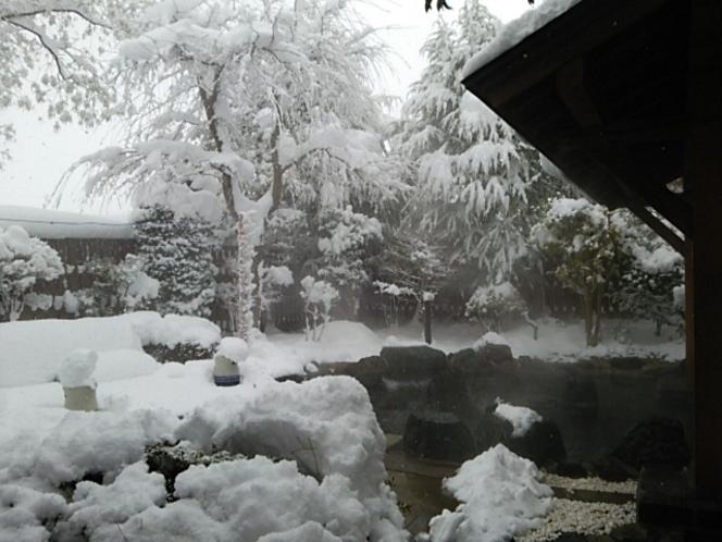 雪見野天風呂
