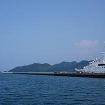 *【周辺】本州の西の端、山口県長門市仙崎の青海島観光汽船
