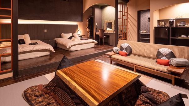 石造りをモチーフにした露天風呂付き贅沢な離れ客室 -14R-
