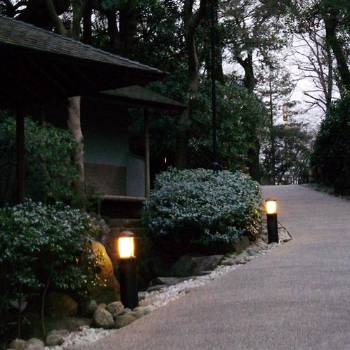 冬の日本庭園 竹心庵前