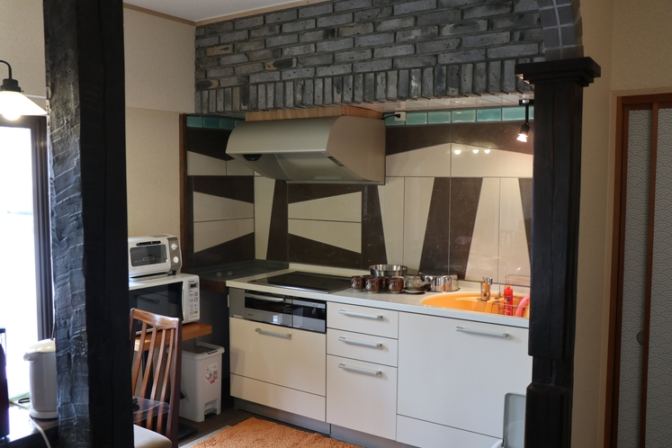301号室キッチン IHで調理可能!