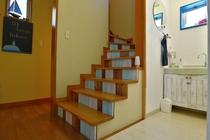 1階:洗面台と階段