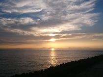 【宇和海】夕暮れ時の景色