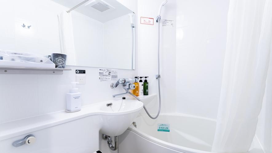環境に配慮した節水の卵型ユニットバス