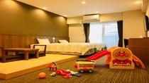 ■ キッズルーム/1室限定 ■ 幼児向けおもちゃ&アメニティ付きの和洋室