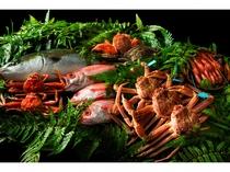 日本海が誇る魚介の旨味を存分にお楽しみ下さいませ。