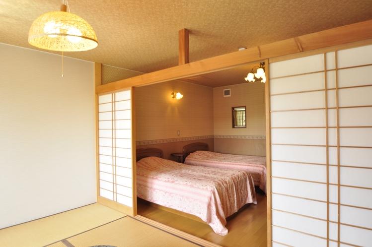 60㎡ 貸切露天風呂付2-5名用 洋室と和室