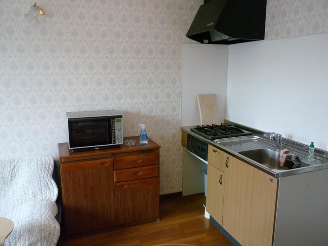 30㎡ 貸切露天風呂付2名用客室 キッチン