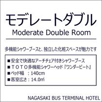 【モデレートダブル】多機能シャワーブースタイプ/14.0㎡/ベッド幅140cm