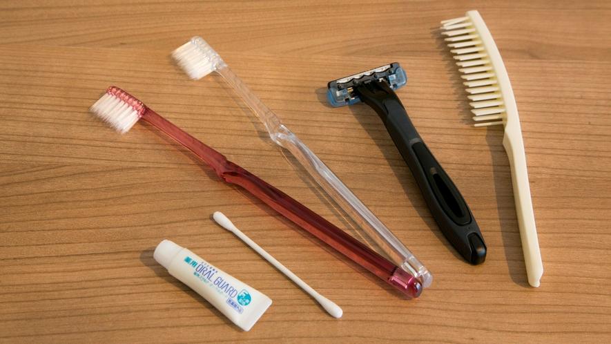 歯ブラシ、カミソリ、クシ