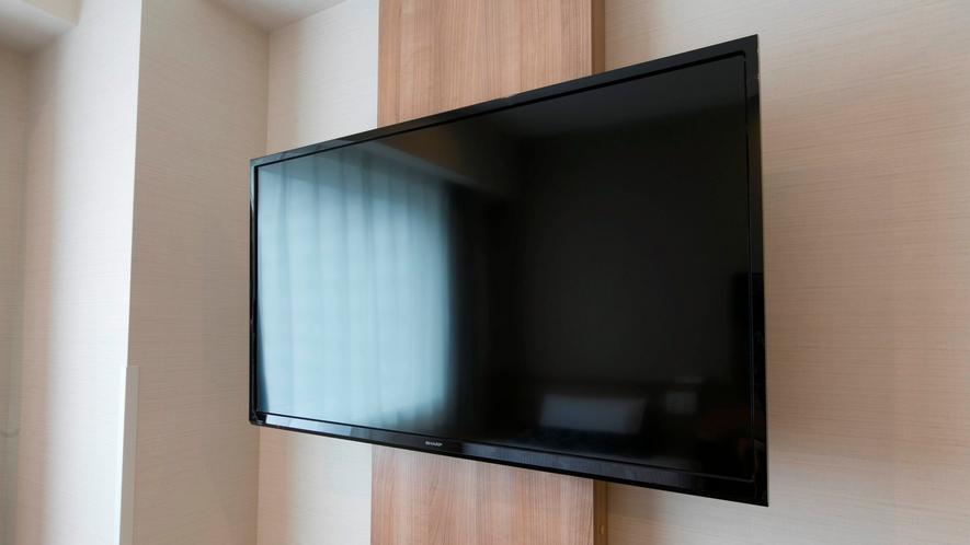 大画面40インチ壁掛けテレビを全室導入