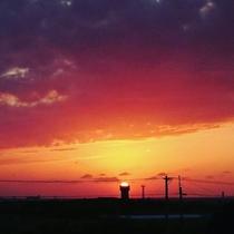 またたびやからの夕日