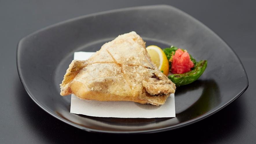 夕食_カマの唐揚げ(追加メニュー)