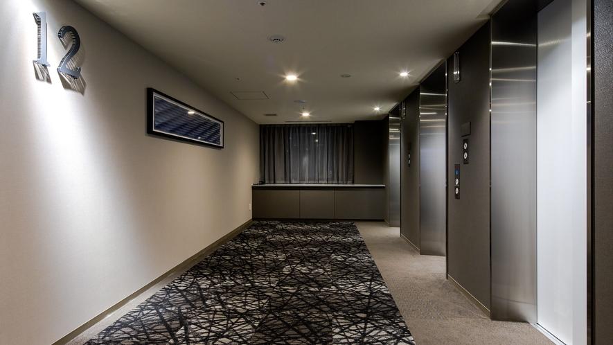 客室階エレベータホール