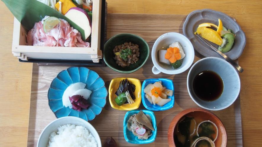 【朝食】和食プレート(せいろ蒸し)