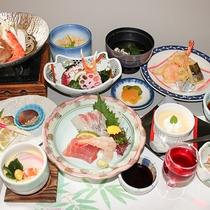 【夕食一例】厳選された食材を使った料理