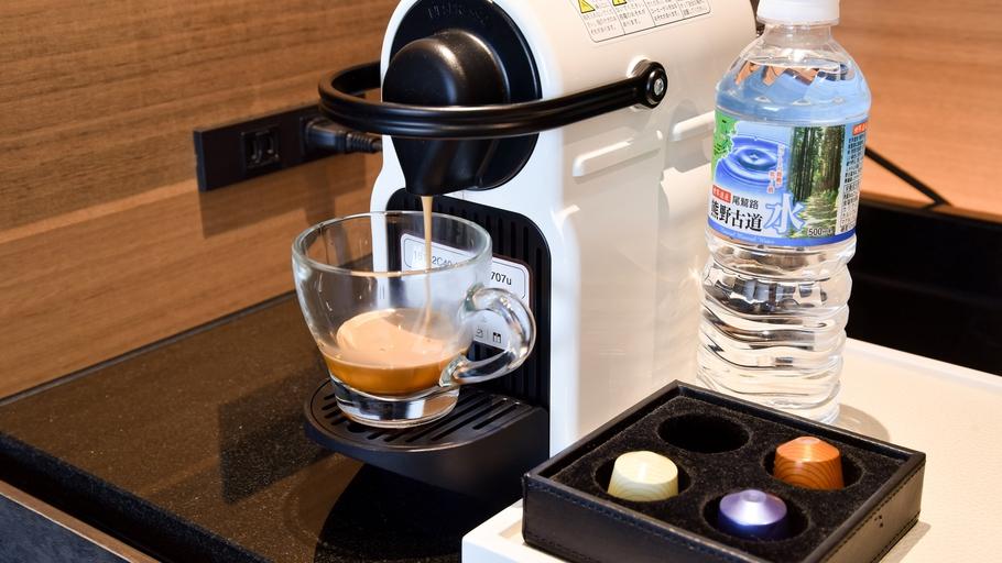 *【アメニティ】コーヒーメーカーは全部屋に設置、無料でご利用いただけます。