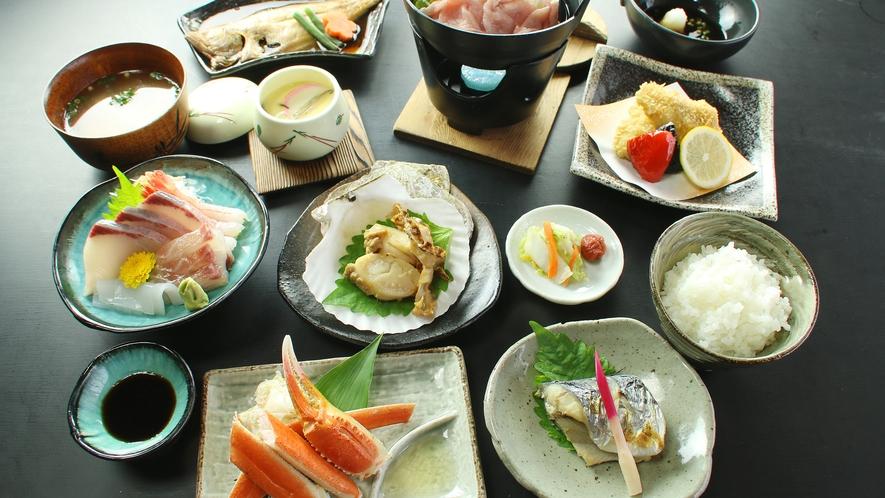 海鮮コース 新鮮な魚介たっぷり召し上がれ ※料理内容は一例です