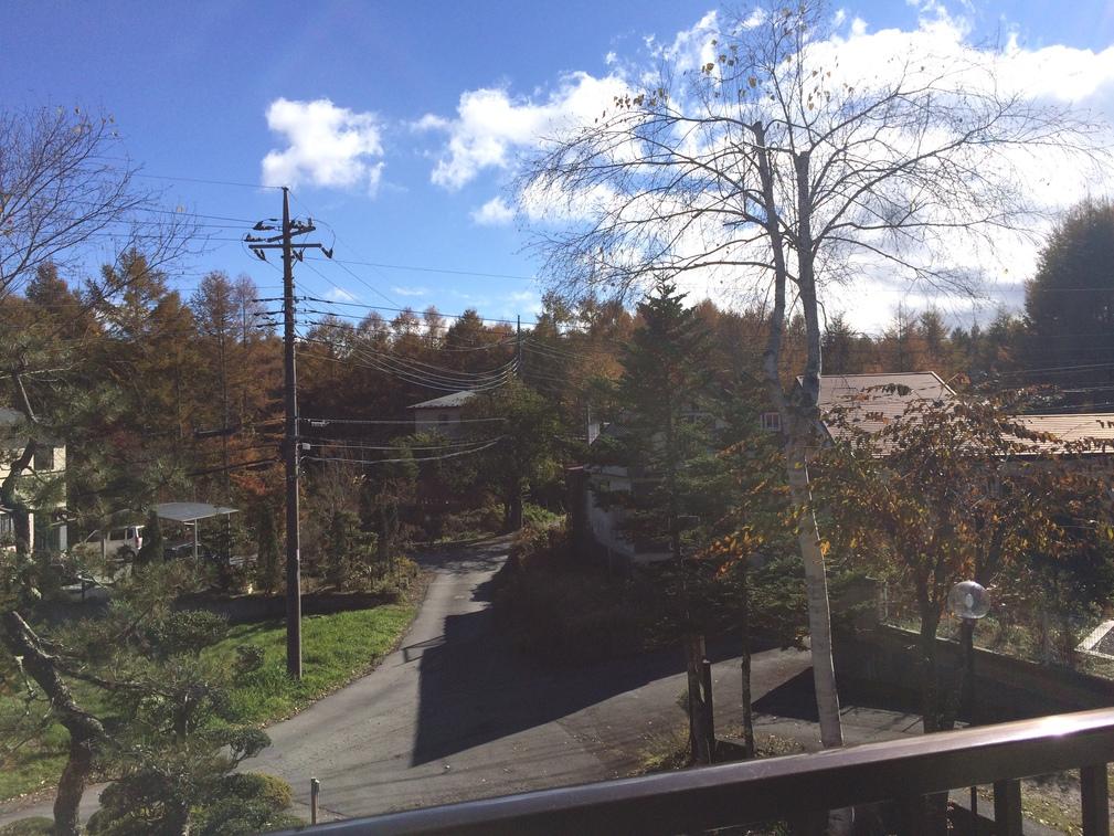 ツインルームのベランダからの景色