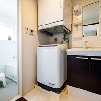 *[客室一例/2LDK]タオルは多めにご用意しており洗濯機&乾燥機完備なので長期滞在にも便利です!