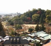 お部屋からの眺望(道後公園)