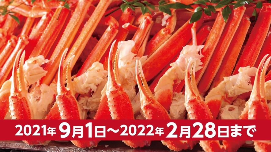 ※かに食べ放題は紅ずわい蟹またはトゲずわい蟹の脚と爪のみの提供です。