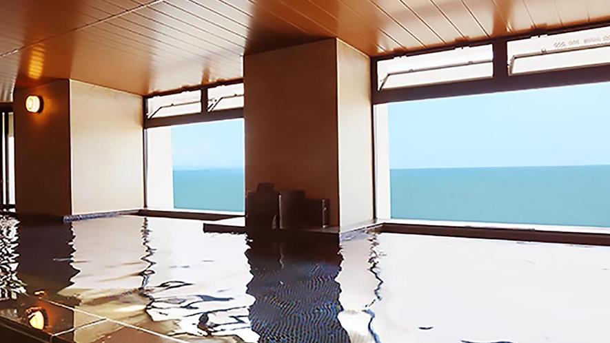 3階大浴場からは別府湾を臨めます。