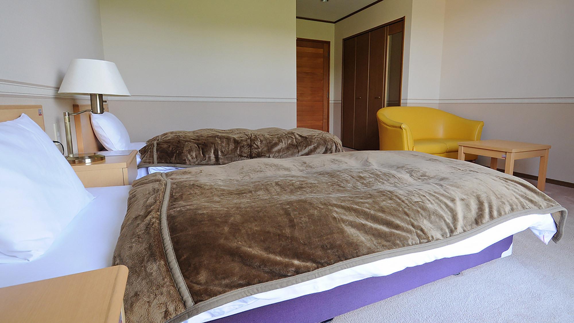 【客室の一例】ゆったり広々としたスペースがある洋室(お部屋により造りは異なります。)
