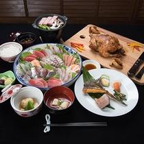 *[夕食/全体一例]海の幸、お肉も食せる!ボリューム満点な和会席