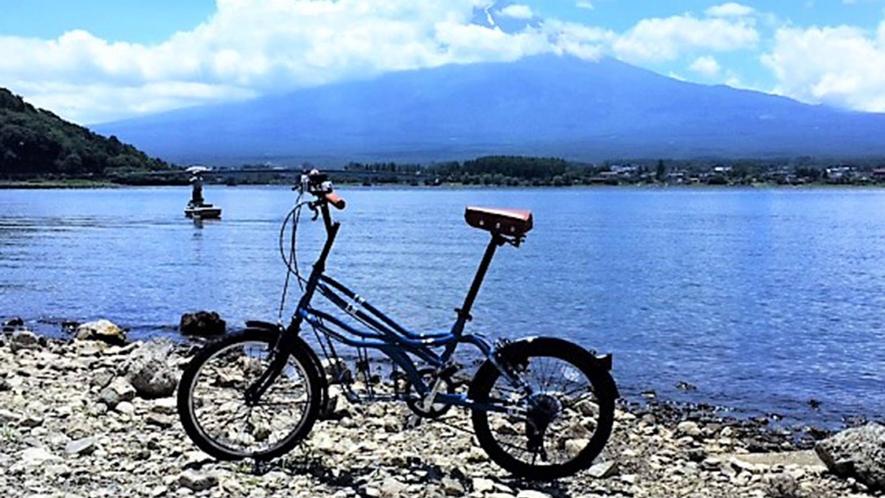 ・富士山眺めながらサイクリングを楽しめます