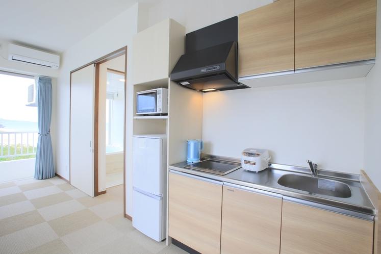 コンドミニアムルーム ~ミニキッチン付きのお部屋で簡単な調理が可能です ♪ ~