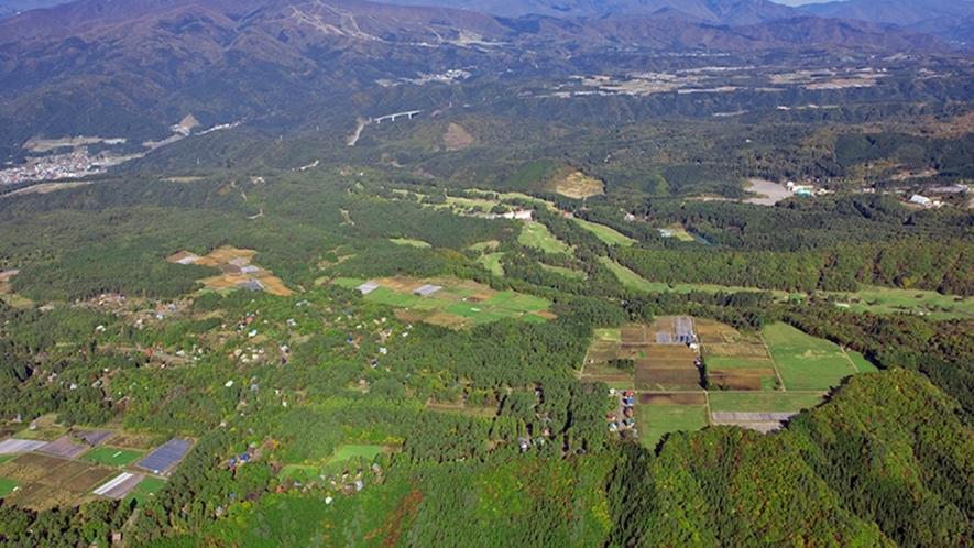 *上空から撮ったひるがの明野高原。